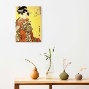 素敵なアートパネル A4サイズ 松葉屋内染之助 若木若葉 喜多川歌麿