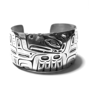 Vintage Northwest Coast Haida Raven Bangle by Barry Herem