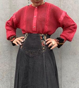 (PAL) knit design cardigan