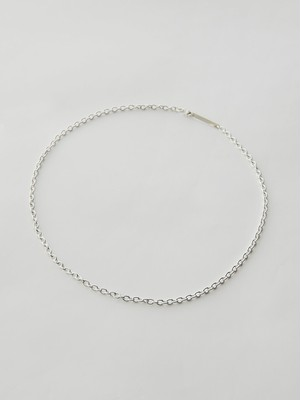 WEISS Cable Chain Necklace Silver wei-ncsv-19