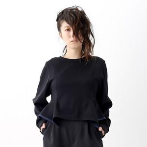 Back V-neck Pullover - Black