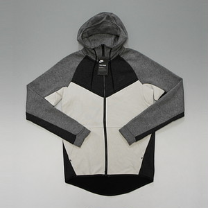 NIKE SPORTSWEAR TECH FLEECE WINDRUNNER ナイキ テックパック テックフリース (HEATHER GREY/BLACK/LIGHT BONE WHITE)