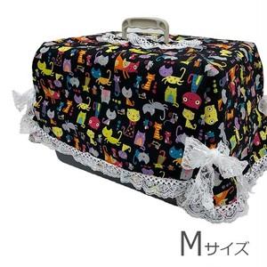 キャリーカバー(ブラックカラフル猫柄 Mサイズ)【CK-004M】