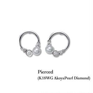 jewelG <Chic> ダイヤモンド ピアス K18WG