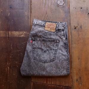 1990s Levi's 501 Black Jeans / リーバイス 先染め ブラック デニム ケミカルウォッシュ