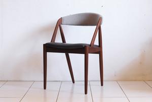 Kai Kristiansen Dining Chair Teak Leather&Kvadrat