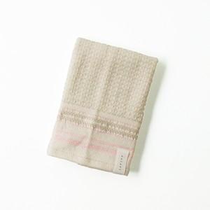 ボタニカルワッフル ウォッシュタオル/ピンク