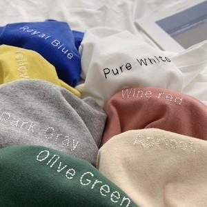 カラー刺繍 長袖Tシャツ 7カラー  lt226