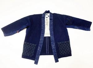 20SS 刺し子風インディゴドビーキモノシャツ / Sashiko like indigo dobbie kimono shirts