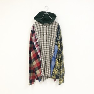 REMAKE HOOD CHECK SHIRT(BEIGE)