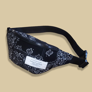 Working Class Heroes Bandana Patchwork Fanny Pack -Black