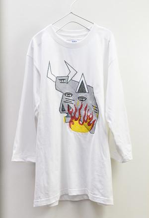 SAU(左右) Guernica[BBQ]  7分丈カットソー (WHITE)