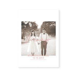 4Pプロフィールブック[タイプD]| 結婚式・ウェディングペーパーアイテム・海外風