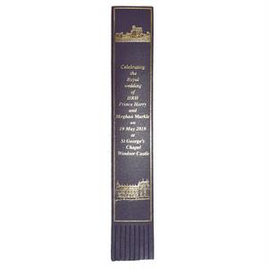 革製ブックマーク ヘンリー王子ご結婚記念【パープル】R.C.Brady 90251-PURPLE