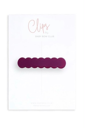 BABY BOW CLUB Scallop Clip // Grape