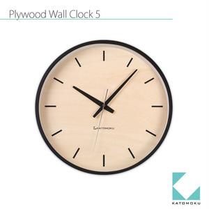KATOMOKU plywood wall clock 5 km-50BRC 電波時計