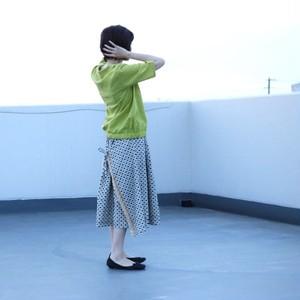 黒の刺繍生地 珈琲そめのレース付きスカート