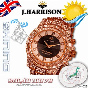コピー:J.HARRISON シャニングソーラー電波腕時計 JH-025PB