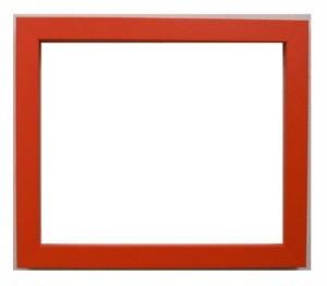 額縁おしゃれフレーム 01-4005オレンジ インチ額縁寸法254mm×203mm 窓枠寸法238mm×187mm /2mmアクリル/裏板付/箱付き/完品/壁掛け用