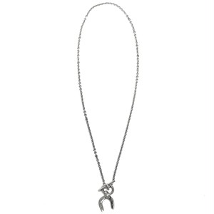 Hermès Vintage Sterling Silver Horseshoe Necklace