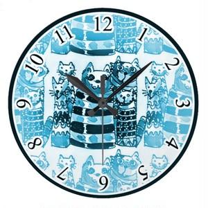 猫のご先祖様の壁画風壁時計(ドイツデザイン)