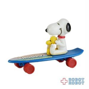 スヌーピー & ウッドストック  ミニ スケートボード 青ボード