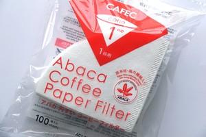 自然環境を考える円錐ペーパー!「 アバカ円すいコーヒーフィルター 100枚入」
