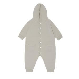 【FUB】べビー ニット ロンパース スーツ セーター メリノウール エコテックス認証  2021AW BABY SUIT Ecru 100% merino wool (oekotex) 出産祝い