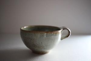 田尾明子|ワラ釉丸マグ 大