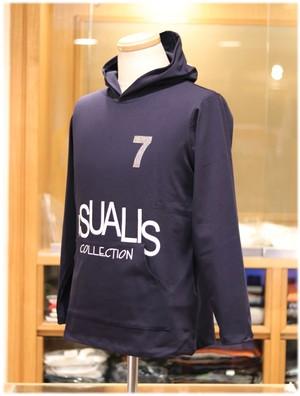 USUALIS collection           ウザリスコレクション  - Italy -     フード付き 長袖Tシャツ       [ リラックスシルエット ]