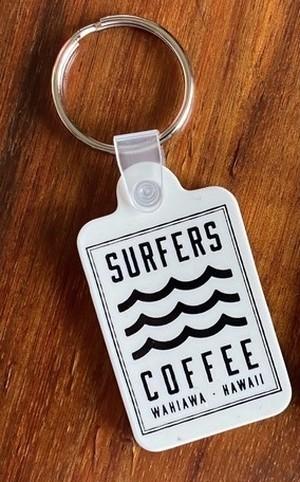 【SURFERS COFFEE】キーチェーン[WT]/ サーファーズコーヒー / ハワイアン/ カフェ / キーホルダー