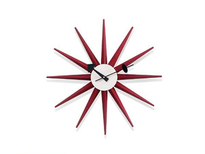 【Vitra Design Museum】Sunburst Clock 【Red】