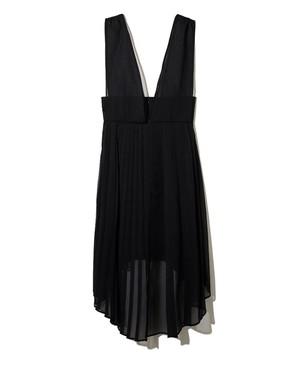 【LEINWÄNDE】プリーテッドオーガンジードレス/ Black 0221011006