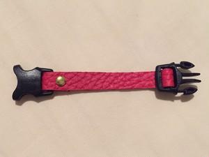赤い革の首輪