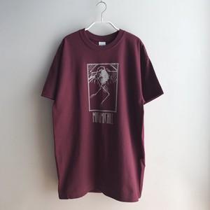 MUGAMICHILL ORIGINAL Bird T-Shirts DARK RED