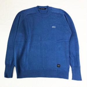 サドルショルダー・クルーネック・セーター  BLUE