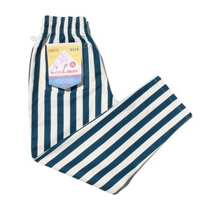 COOKMAN Chef Pants 「Wide stripe」 NAVY