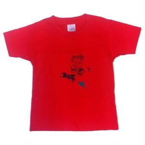 110cm キッズTシャツ レッド