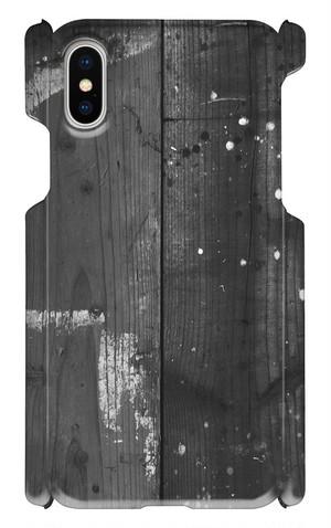 iPhone X【MONO-01】 スマホケース スマホカバー 木目
