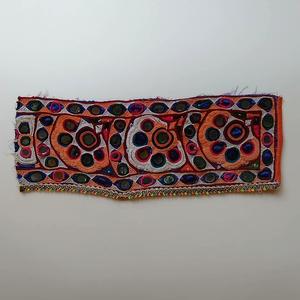 インドミラーワーク刺繍のアンティークファブリックC