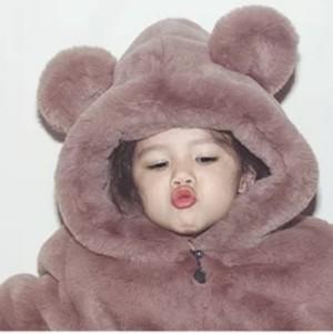 【KIDS】エコファークマさんコート★