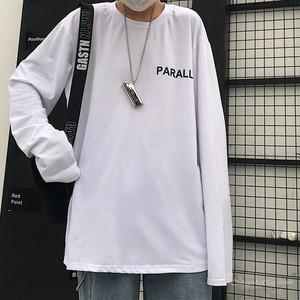【トップス】ストリート系レトロアルファベットプリントカジュアル長袖Tシャツ