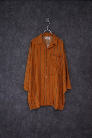Nora Lily Dolman Half Sleeve Over size Shirt  mustard check-