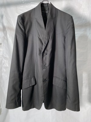 1990s ALEXANDER MCQUEEN BURIED LAPEL TAILORED JACKET