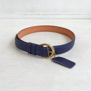 OLD COACH navy leather belt