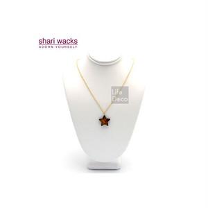 Shari Wacks シャリワックス スター ネックレス ブラウン