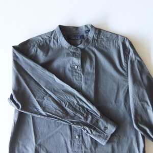 HAND ROOM WOMEN'S - バンドカラーシャツ - Charcoal