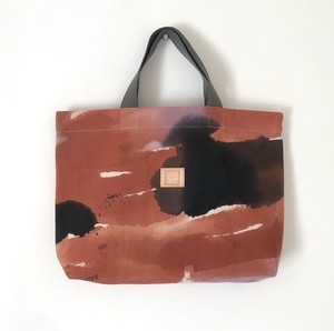 手染めのキャンバスA4トートバッグ / palette