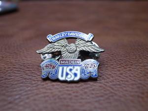 VTG Harley-Davidson イーグル&MADE IN USA ピンバッチ④