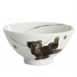 モコ猫 黒猫 飯碗  おすわり 背のび (1個箱入り) ねこのもり
